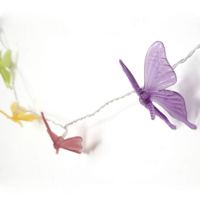 guirnalda de mariposas de colores