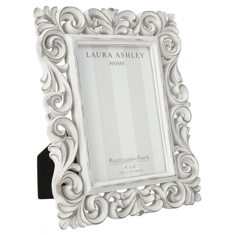 Comprar marco blanco de resina ornate scroll de diseño - Laura ...