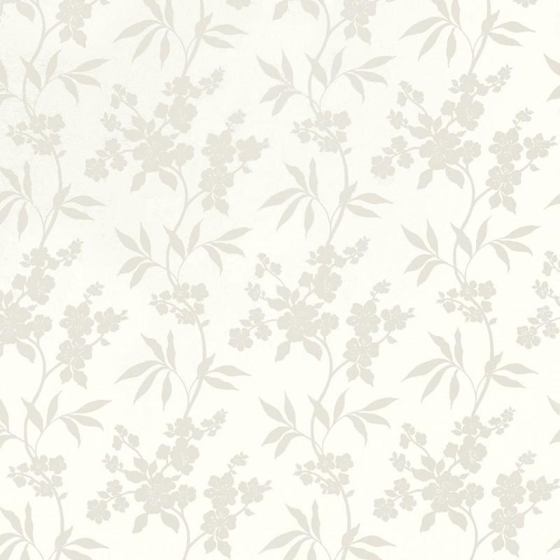 Comprar papel pintado thalia blanco de dise o laura - Laura ashley papel pintado ...