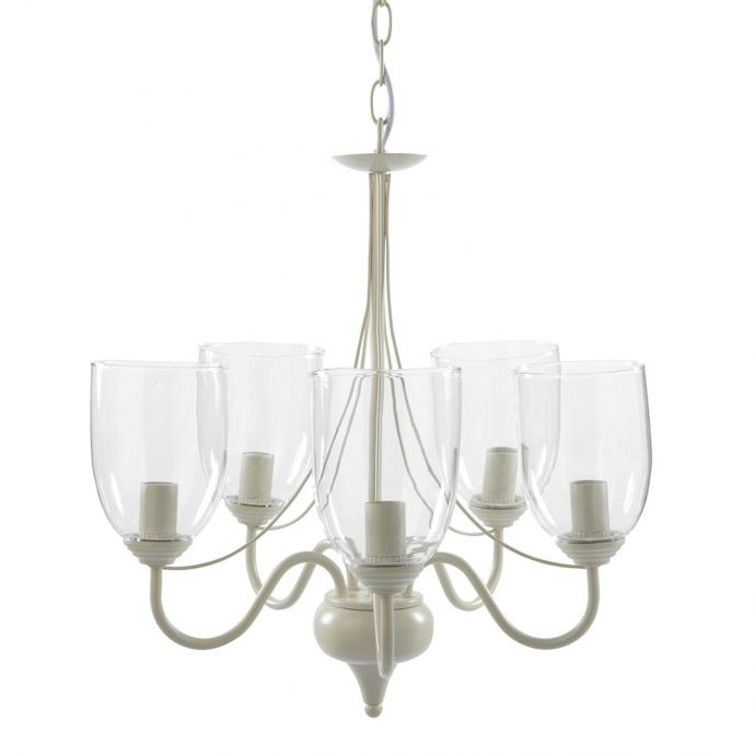 lámpara de techo con 5 brazos porter con copas de