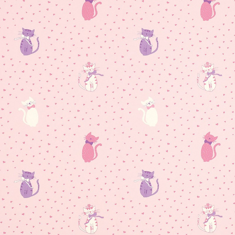 Comprar papel pintado kittens rosa de dise o laura for Papel decorado rosa
