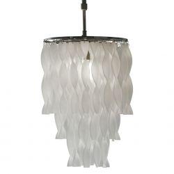 lámpara de techo Clovelly cristal escarchado