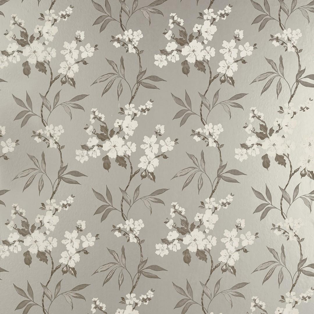 Comprar papel pintado calissa peltre de diseño - Laura Ashley Decoracion
