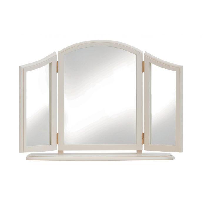 triple espejo de sobremesa clifton marfil