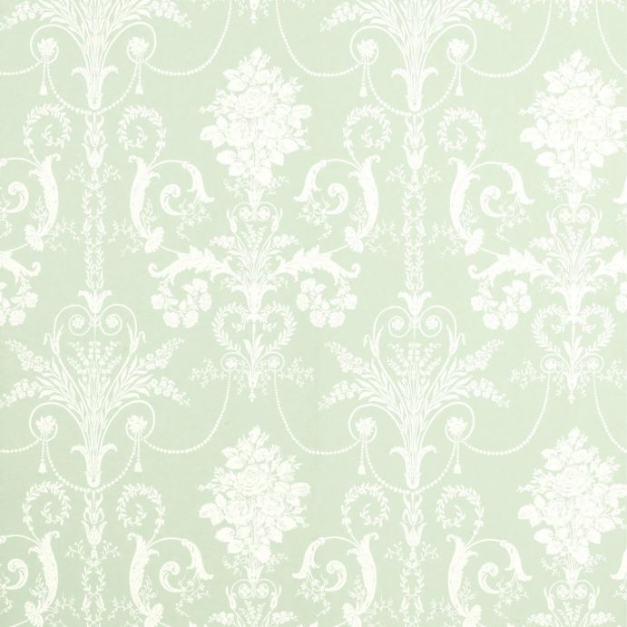 papel pintado josette verde eau de nil