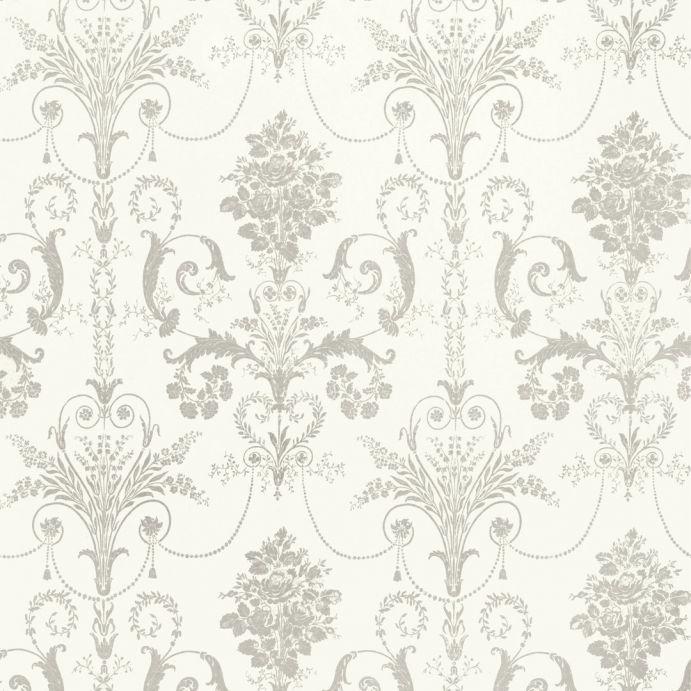 papel pintado josette gris claro blanco