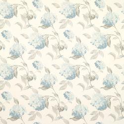 papel pintado de flores azul verdoso