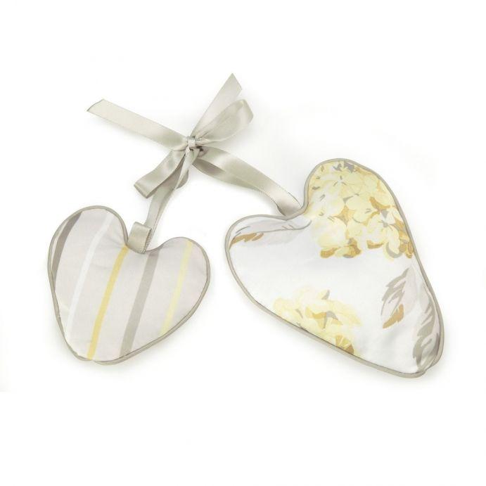 2 corazones perfumados hydrangea camomila