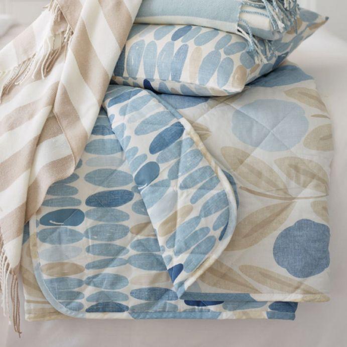 colcha serena azul mar