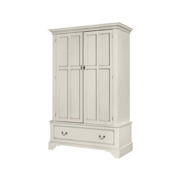 armario de puerta doble clifton gris claro