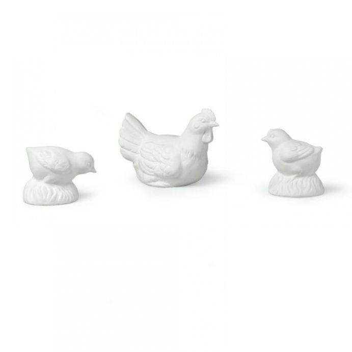 conjunto de gallina y pollitos luminosos