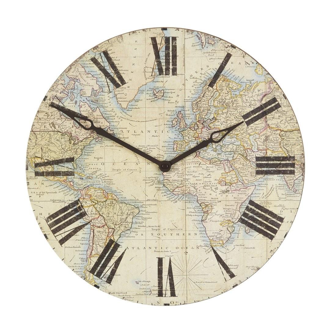Comprar reloj de pared world map de diseo laura ashley decoracion gumiabroncs Choice Image