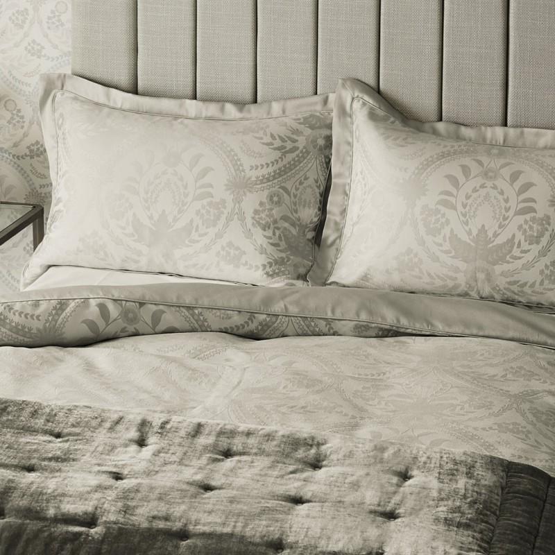 Comprar ropa de cama almeida gris claro de dise o laura - Ropa de cama textura ...