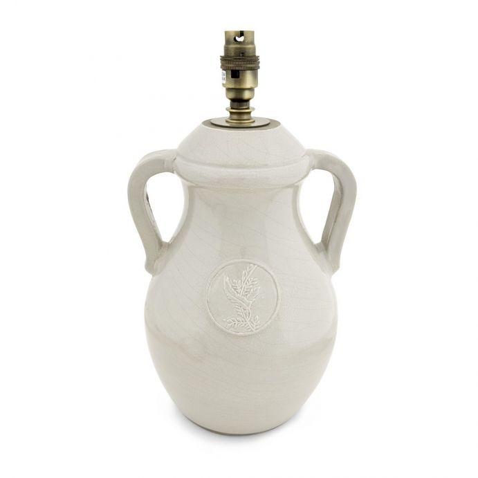 base de lámpara con diseño de jarrón ánfora cerámica esmaltada