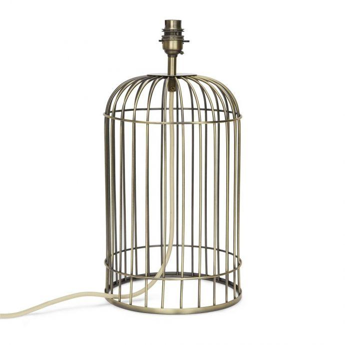 pie de lámpara con forma de jaula clásica de diseño