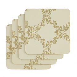 juego de 4 posavasos wilton oro