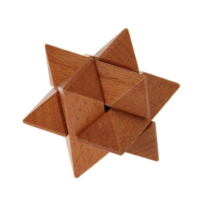 mini puzzle estrella de madera