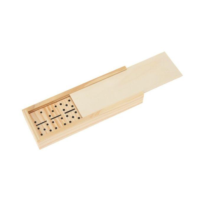 mini dominó de madera
