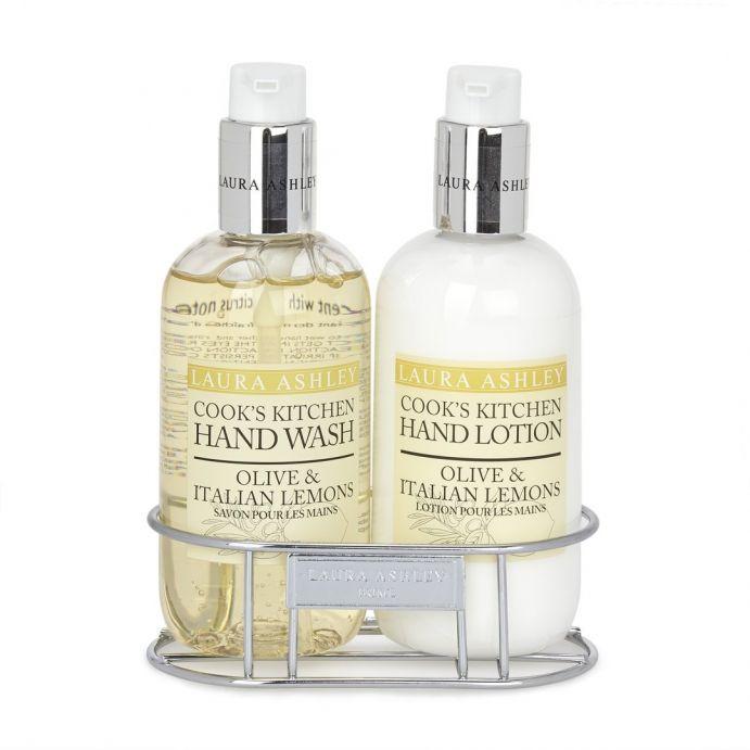 jabón y loción de manos oliva y limón italiano
