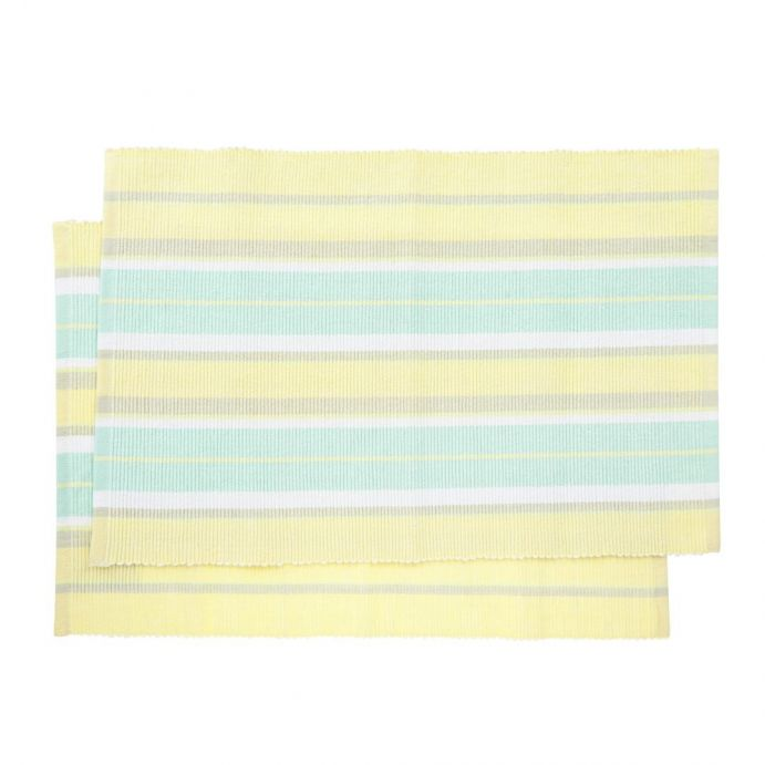 pareja de manteles individuales summer stripe