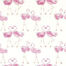 papel pintado pretty flamingo rosa
