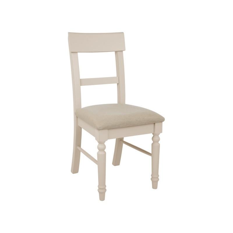 Comprar pareja de sillas de comedor dorset tapizadas gris for Sillas de comedor tapizadas en gris