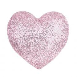 cojín corazón rosa