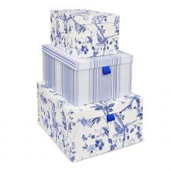 set de 3 cajas summer palace azul royal