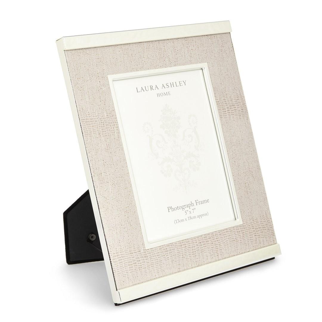 Comprar marco de cuero y metal plata de diseño - Laura Ashley Decoracion