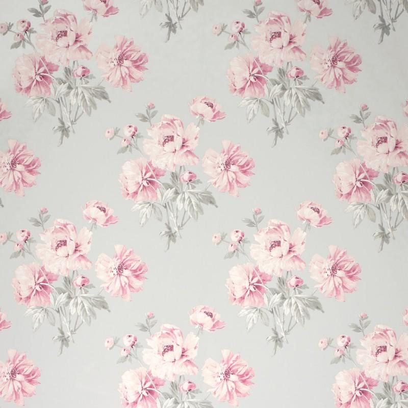 Comprar papel pintado beatrice rosa ciclamen de dise o - Papel pintado laura ashley ...