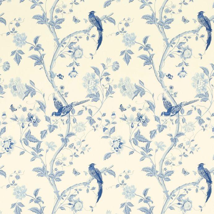 papel pintado de pájaros azul zafiro