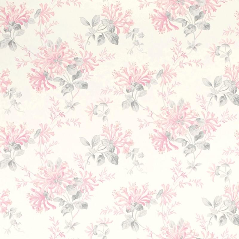 Comprar papel pintado honeysuckle trail rosa ciclamen de - Laura ashley papel pintado ...
