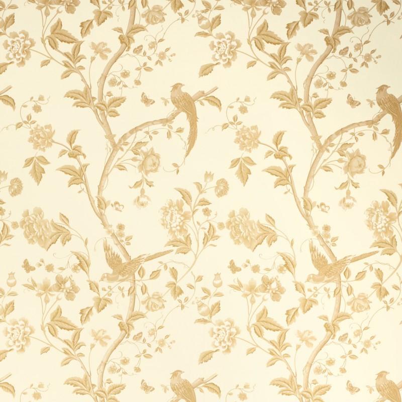 Comprar papel pintado summer palace oro de dise o laura - Papel pintado laura ashley ...