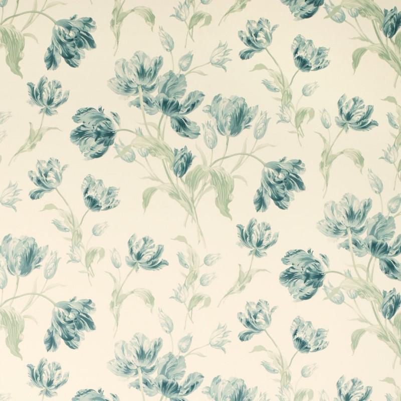 Comprar papel pintado gosford meadow azul verdoso de - Papel pintado laura ashley ...