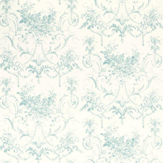 papel pintado tuileries azul verdoso