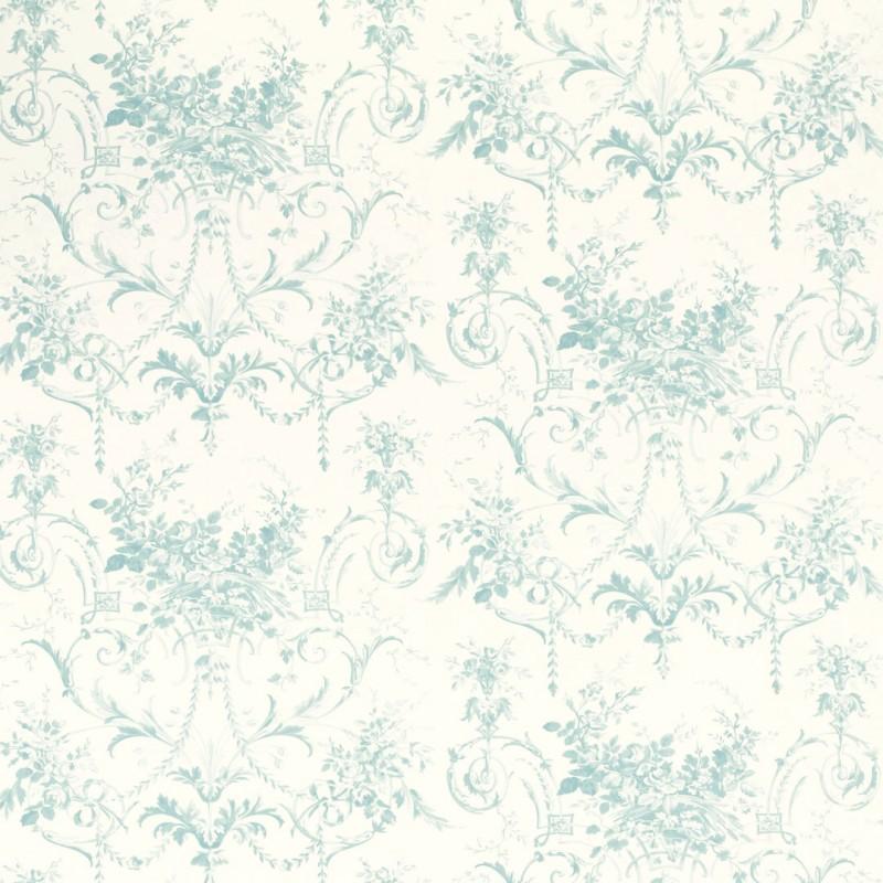 Comprar papel pintado tuileries azul verdoso de dise o - Laura ashley papel pintado ...