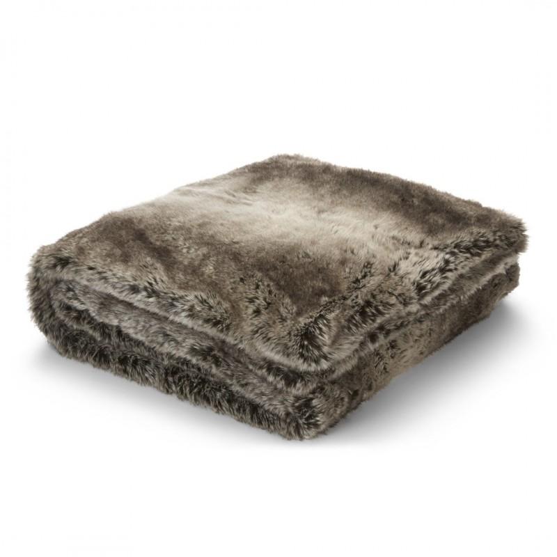 Comprar manta dartmoor de falsa piel chocolate de dise o - Mantas de piel ...