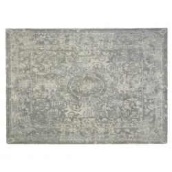 alfombra de lana de diseño color gris estampado