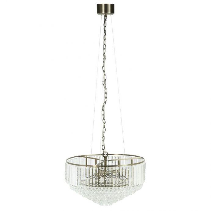 lámpara de techo de cristal de diseño clásico de gran tamaño