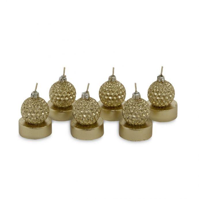 conjunto de velitas en forma de bola decorativa