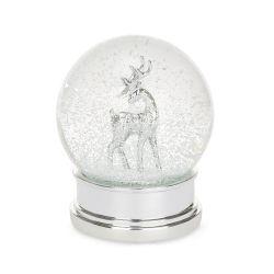bola de nieve con ciervo