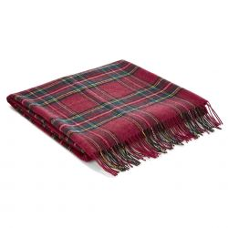 manta tartan royal stuart rojo