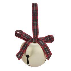 cascabel decorativo con lazo de tartán