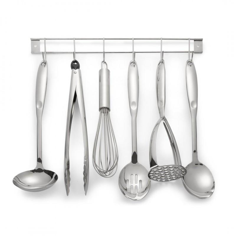 Comprar utensilios de cocina con soporte en acero inox de for Soporte utensilios cocina