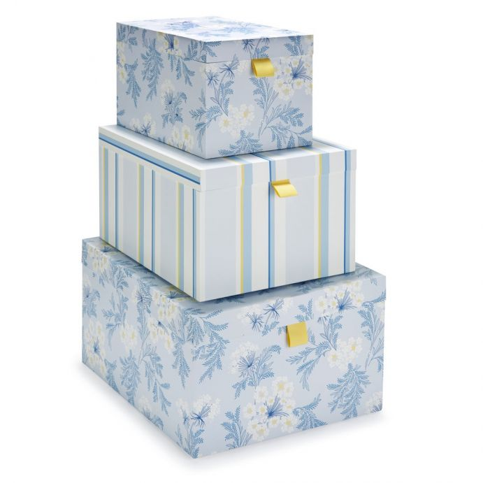 Comprar 3 cajas decorativas harbour de dise o laura ashley decoracion - Cajas almacenaje decorativas ...