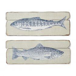 2 paneles Fish madera