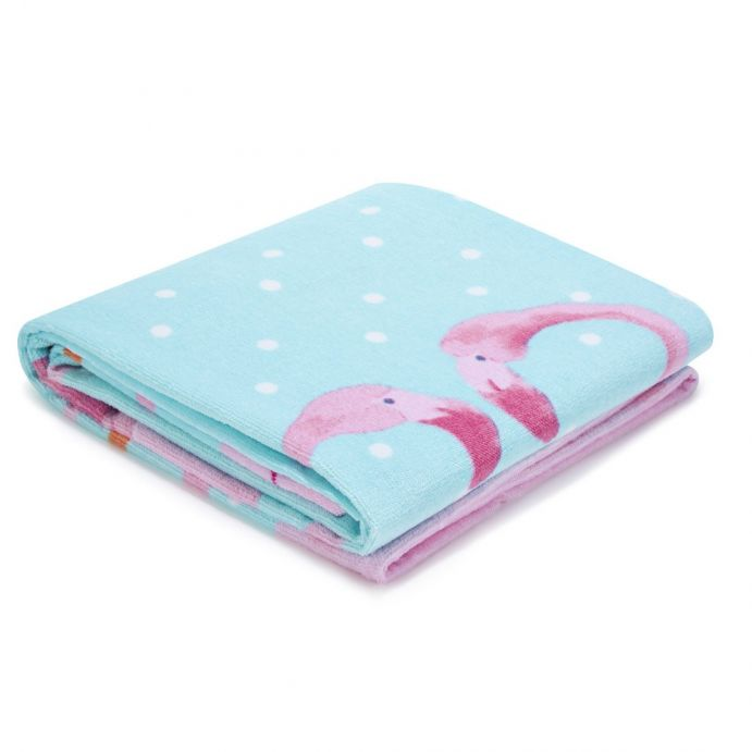 toalla de playa infantil pretty flamingo