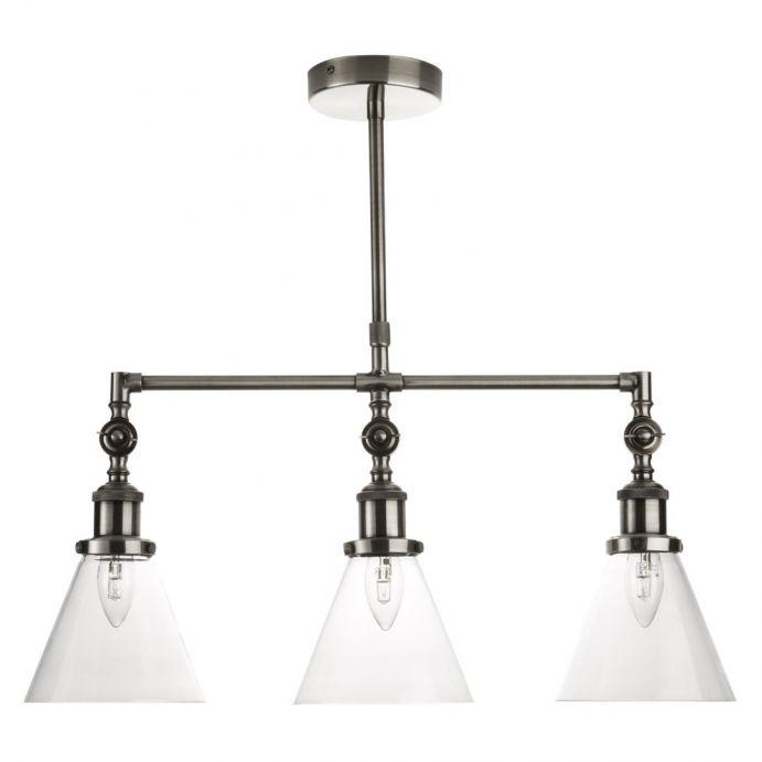 lámpara colgante triple isaac