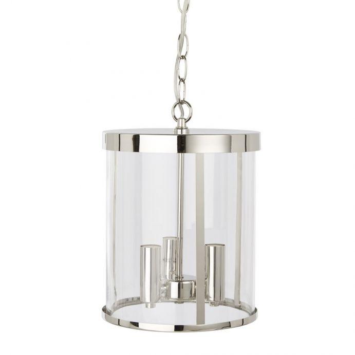 lámpara colgante Selbourne níquel