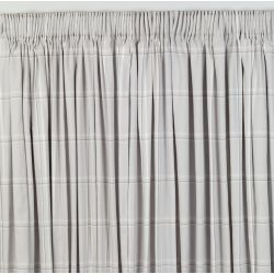 cortinas confeccionadas Corby Check plata